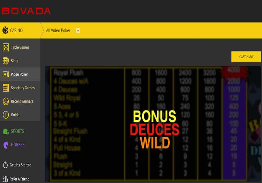 Bovada's New Mobile Video Poker Game