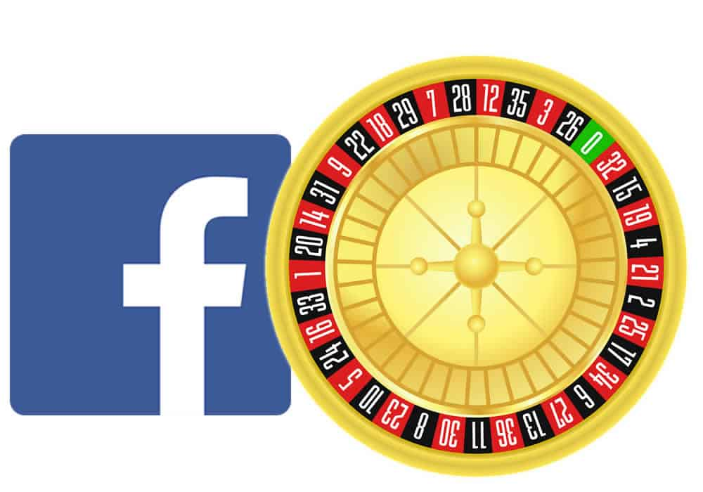 Facebook Logo With Roulette Wheel