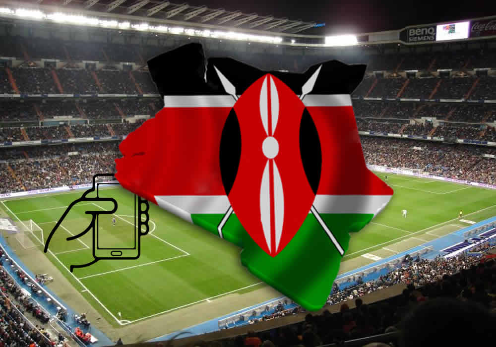 Kenya Flag And Stadium