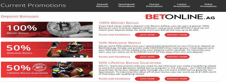 Huge Promotions At Betonline Sportsbook