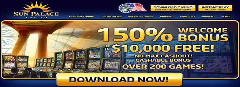 Claim A $10,000 Cashable Bonus At SunPalace