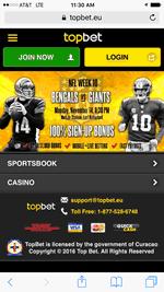 Mobile Screenshot Of Topbet