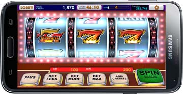 slot game on a cellphone