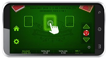 Blackjack game on phone