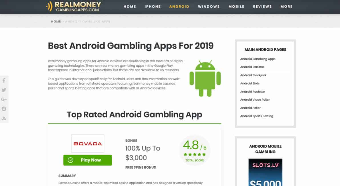 Real Money Gambling Apps