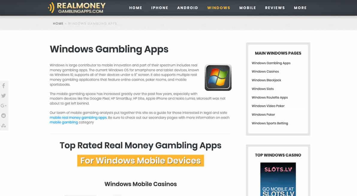 Windows Gambling Apps