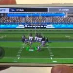 Madden Football Game Displayed On An iPhone