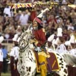 chief osceola and renegade at fsu seminoles game